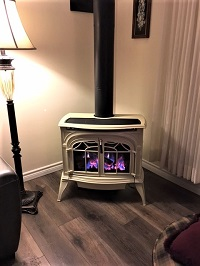 Gas burning stoves by Vermont Castings