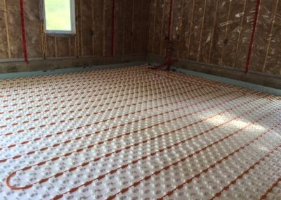 Job Photos: In-floor Radiant Heat