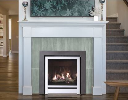 "Blaze King gas fireplace model ""The Clarity"""
