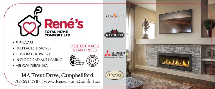 Rene's Total Home Comfort list of services, and brands they carry.