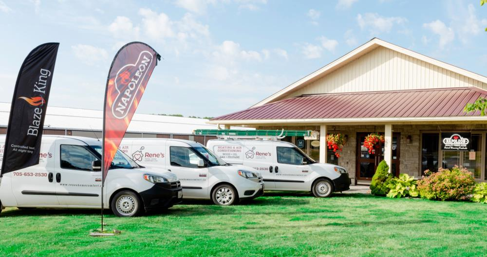 Rene's Total Home Comfort Ltd. Shop and Service Vehicles
